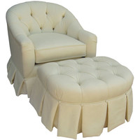 Angel Song 201920182Down Bordeaux Cream Adult Park Avenue Adult Rocker Glider w/ Plush Down Cushion
