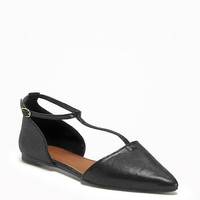 T-Strap D'Orsay Flats for Women | Old Navy