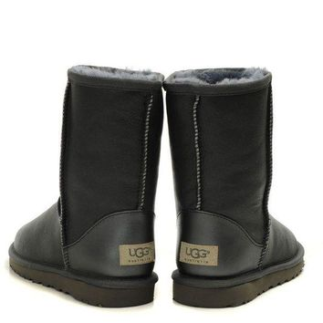 UGG Casual Woman Men Fashion Leather Half Boots Snow Boots Shoes G