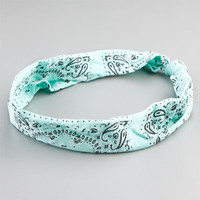 Full Tilt Stretch Knotted Bandana Mint One Size For Women 20286552301
