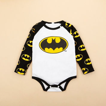 Baby Infants Romper Cartoon Superman Batman Jumpsuits Kids Boys Girls Playwear = 1928019972