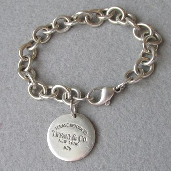 Vintage Return to Tiffany & Co. Sterling Silver Bracelet, Size Large 7 3/4""