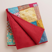 Kantha Sari Patch Throw - World Market