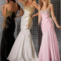 Sexy Mermaid Prom Formal Party Ball Evening Pageant Dresses bridal dress