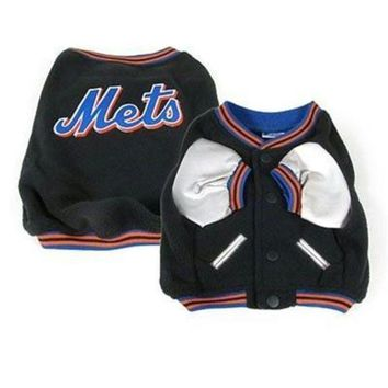 ONETOW New York Mets Varsity Dog Jacket
