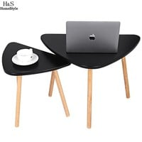 Triangle Shape Simple Modern Wooden Coffee Table