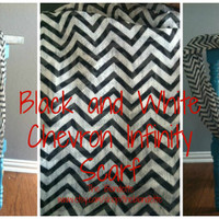 Chevron Black and White Infinity scarf