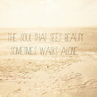 The_soul_that_sees_beauty_may_sometimes_walk_alone Stretched Canvas by secretgardenphotography [Nicola] | Society6