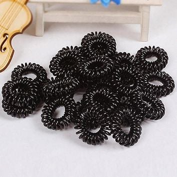 Hot 10Pcs Girls Elastic Rubber Hair Ties Band Rope Ponytail Holder Bracelets Scrunchie  7FPF