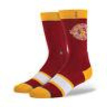 Stance Hardwood NBA Authentic Men's Crew Socks - CLEVELAND CAVALIERS - L/XL 9-12