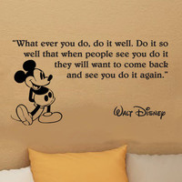 Walt Disney Mickey Mouse What ever you do wall quote by kisvinyl