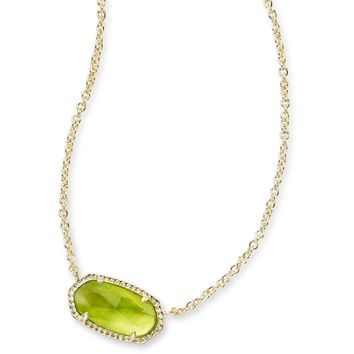 Kendra Scott: Elisa Pendant Necklace In Peridot Illusion