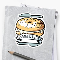 'Bagel Life - Everything Bagels are Everything to Me' Sticker by electrogiraffe