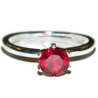 Ruby Ring, Engagement  Ring, Anniversary Ring, High Set, Six Prong Ring