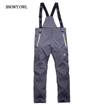 Free Shipping men's ski pants thicken suspenders outdoor ski men skiing and snowboarding pants sport trousers h70
