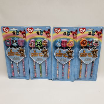Ty Beanie Boos 3 Pack Pencils with Eraser Model 839-2