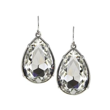 Women Ethnic Semi-precious Stone Water Drop Statement Hook Earrings Jewelry