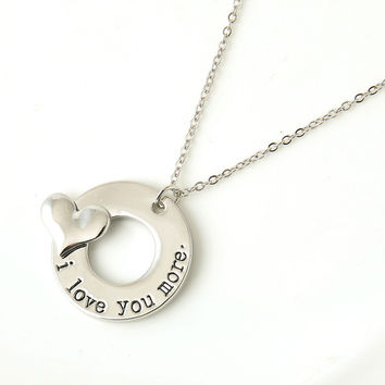 "New Trendy Silver Alloy Jewelry ""Love"" Letter Pendant Necklace Women Chain Necklaces Love Gifts free shipping 12 Styles"