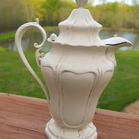 Vintage Silverplate Creamer Pitcher Cottage White Kitchen Decor Quadrupleplate