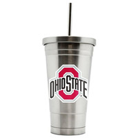 Duckhouse 16oz stainless steel travel tumbler Ohio State