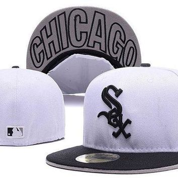 CREY8KY Chicago White Sox New Era MLB Cap Americana Ultimate 59FIFTY White HAT
