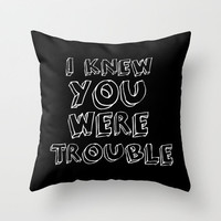FREE SHIPPING THIS WEEK !!! *** TROUBLE ***  Throw Pillow by M✿nika  Strigel	 | Society6 in 3 SIZES