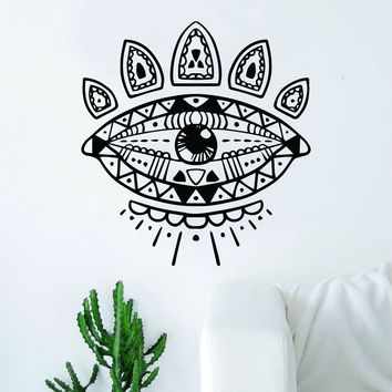 Boho Eye Decal Sticker Wall Vinyl Art Home Decor Teen Beautiful Yoga Namaste Mandala
