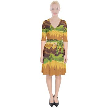 Burger Wrap Up Cocktail Dress