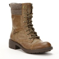 Unleashed by Rocket Dog Black TowerCombat Boots - Women