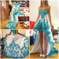 High Low Prom Party Dress Evening Gown pst0491