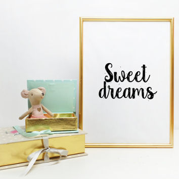 Kids Wall Art Print Baby Nursery Wall Print Clouds Nursery Wall Art Nursery Print Nursery Decor Sweet Dreams Sign Nursert Wall art