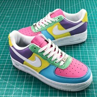 Nike Air Force 1 Low Easter Colorful Cream Fashion Shoes - Best Online Sale