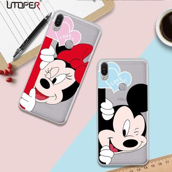 UTOPER Mickey Shell For Asus Zenfone Max Pro M1 ZB601KL Case Silicone Mouse Phone Case For ZenFone Max Plus M1 ZB570T Case Cover