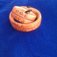 Leather Name Rings by rictrevinoleather on Etsy