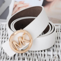 Perfect MK Woman Fashion Smooth Buckle Belt Leather Belt