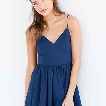 Kimchi Blue V-Neck Fit + Flare Romper - Urban Outfitters