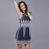Embroidery Dress One Piece Dress [10239098131]