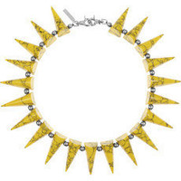 Eddie Borgo | Silver-plated turquoise and hematite spike necklace | NET-A-PORTER.COM