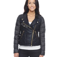 Tweed Puffer Moto by Juicy Couture