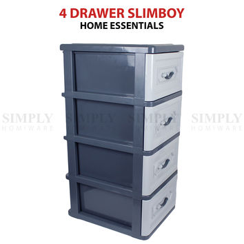 Childrens Kids Chest of Drawers | 4 Drawer Bedroom Furniture | Toys Clothing