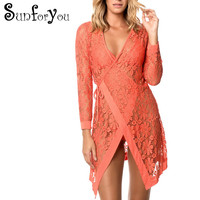 New Lace Beach Cover Up Beach Cardigan Feminino Swimsuit cover up Bathing Suit Cover Ups Pareo Beach Tunic Beach Lace Dress