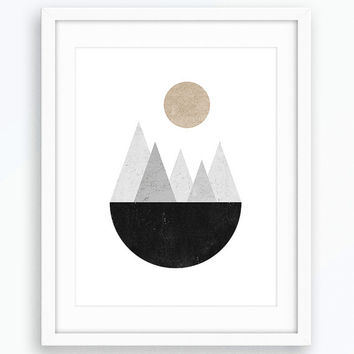 Geometric Art, Scandinavian Modern, Wall Art, Printable Art, Minimalist Poster, Room Decor, Scandinavian Print, Modern Print, Prints, Art