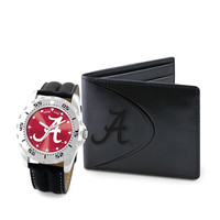 Alabama Crimson Tide NCAA Men's Watch & Wallet Set