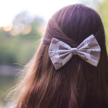 Pusheen Hair Bow