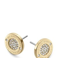 Michael Kors Pavé Logo Stud Earrings | Bloomingdales's