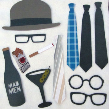 Mad Men Photo Booth Prop Collection Set or A by livelaughlovelots