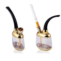 1Pcs Glass Smoking Water Spoons Pipe  Hookah Bicirculation Filter Cigarette Toba