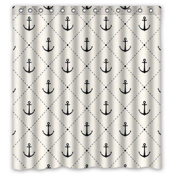 "66"" x 72"" Creative Anchor Shower Curtain"
