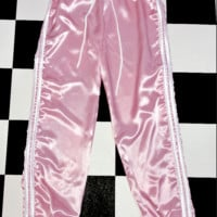 SWEET LORD O'MIGHTY! SILK KITTEN TRACKIEZ IN POWDER PINK