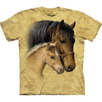 PEAPGQ9 Horse & Baby Gentle Touch Kids T-Shirt